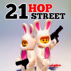 21 HOP Street (wingtorn) Tags: street bunnies easter jump comedy cops lego 21 pirate johnny movies parody hop depp undercover tatum channing wingtorn uploaded:by=flickrmobile colorvibefilter flickriosapp:filter=colorvibe