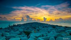 Stone (AzreeAzizi) Tags: morning sunset nature stone sunrise landscape nikon natural cloudy lifestyle sunny d5000 nikonranger