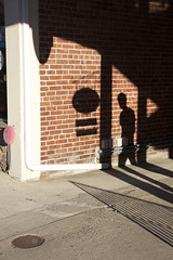 Impressions (gsjames42) Tags: street light shadow black brick public silhouette canon james perspective streetphotography explore doylestown streetphoto impressions traveling gregory distance stpatricks stpatricksday 2015 t2i gregoryjames canoneosrebelt2i