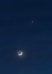 Heavenly Bodies (Joseph Pearson Images) Tags: sky moon night woking lowlight venus surrey crescent planet earthshine