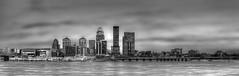 Louisville, Kentucky Skyline (photographyacrossamerica) Tags: street city bridge blackandwhite bw panorama skyline photography photo downtown kentucky 2nd photograph second louisville ohioriver www22northphotographycom 22northphotography wwwphotographyacrossamericacom photographyacrossamerica