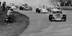 Canadian Grand Prix 1973 Race Start Turn 1 (nwmacracing) Tags: race start 1 lotus grand f1 canadian prix lap formula1 peterson 1973 mosport