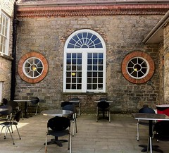Courtyard (JulieK (thanks for 8 million views)) Tags: ireland window wall chairs cork tables munster doneraile donerailepark iphone4 donerailecourt ilobsterit