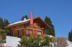 Chalet à la Lécherette (CH) (Annelise LE BIAN) Tags: orange suisse explore damn paysages chalets montagnes coth supershot fantasticnaturegroup neigeetglace leschevreuils lalécherette