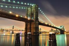 New York City (Summer Jam 35) Tags: nyc longexposure winter snow newyork brooklyn night manhattan southstreetseaport brooklynbridge manhattanbridge eastriver nikoncapturenx nikond90