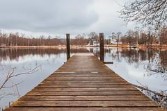 Landvetters Kyrka (Arvid Bjrkqvist) Tags: wood longexposure bridge lake reflection church clouds nd110 canon6d