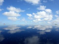 Radar Seeking Sky 18-04-2015 (gallftree008) Tags: blue ireland roof sky dublin cloud reflection nature car clouds reflections airport spot reflecte