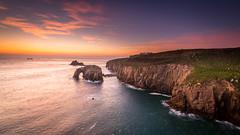 Lands End - Cornwall (Christopher Pope Photography) Tags: sunset sea seascape landscape golden nikon rocks cornwall arch web landsend goldenhour cp009 nikond610 christopherpope christopherpopephotography