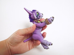 Night Elf Druid Cat Form - WoW - Ball Jointed Doll 08 (vonBorowsky) Tags: world wild pet cute night cat ball wow doll purple handmade tiger warcraft elf clay bjd form druid jointed