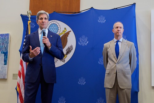 Secretary Kerry Addresses the Staff of U.S. Embassy Djibouti