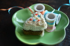 Knitted Cake Slice