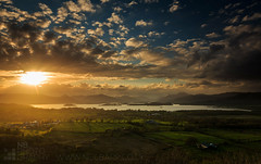 View from Duncryne Hill (GenerationX) Tags: sunset sky sun mountains water alexandria clouds landscape evening scotland unitedkingdom dusk scottish neil fields rays loch drama trossachs balloch lochlomond barr luss duncryne bestview smallhill lochlomodn