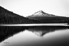 Mount Hood (Anishkumar Sugumaran) Tags: mountain lake landscape bw water waterfront nature monochrome long exposure reflection black white scenery scenic summer mthood mt hood mount trillium portland oregon usa america