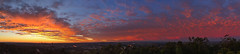 Today's sunrise (NettyA) Tags: 2016 appleiphone6 australia brisbane mtcoottha mtcootthalookout qld queensland pano panorama sunrise mountcoottha au