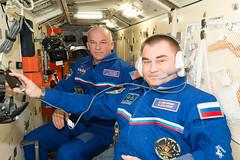 iss048e025124 (NASA Johnson) Tags: nasa roscosmos jeff williams alexey ovchinin russian segment headset flight suit
