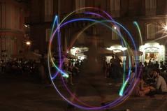 3 (Enrico Rispoli) Tags: juggling light painting piazza san domenico napoli