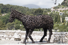 Nice-1220651 (Bucky-D) Tags: sculpture horse france nice eze horseshoes europetrip 2016 fz1000