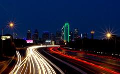 Crossing (aditya.basrur) Tags: dallas skyline texas dfw lighttrails longexposure city dallasbig