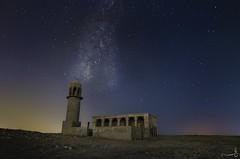 Sky at Rawdat Rashid- Qatar (zai Qtr) Tags: sky abandoned night stars nikon outdoor mosque tokina doha qatar milkyway samim qatarliving exploreqatar rawdatrashid summer2016 june2016 zaiqtr eidalfitr2016