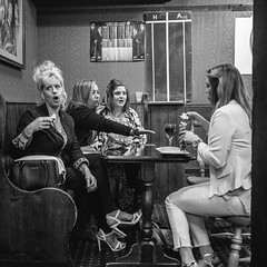Girls Night Out (THOMAS-MOORE) Tags: monochrome blackandwhite guernsey socialdocumentary streetphotography