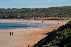 Towards Point Lonsdale (blachswan) Tags: bellarinepeninsula victoria australia queenscliff towardspointlonsdale beach sand walkers