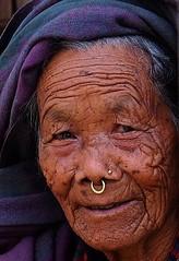 "A Nepali Portrait ((C) HAN ""the Coffee Man"") Tags: portrait nepal nepali oldwoman face ethnic"