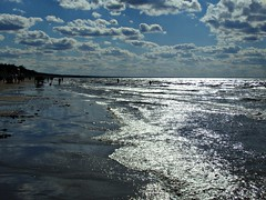Silver of the Baltic sea (Totallyme) Tags: sea seaside water clouds waves beach sky balticsea reflections sand swimming summer latvia jurmala