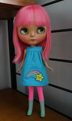 funny bunny (Rhibops) Tags: blythe custom sunshineholiday guava chantillylacecustom funnybunny rainbowstar