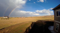 Rare:  (Blue Sky Rainbow) (northern_nights) Tags: rainbow whiterainbow blueskies clouds 100v10f