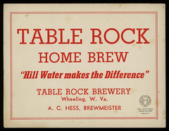 Table Rock Brewery Beer Label (Ohio County Public Library) Tags: wheelingwv wheeling tablerock brewing breweries beer tablerockbrewery beerlabel achess