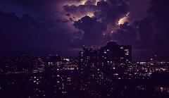 Gotham City - NYC cityscape (Jacci Jaye) Tags: nyc newyork newyorkcity cityscape nyskyline nycityscape sky lightening storm stormclouds nycatnight cityview skyporn