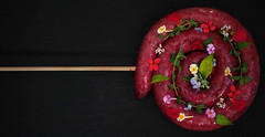 Lollipop (armandocapochiani) Tags: food foodart foodphotography finedining flower fiori armandocapochiani art apulia beauty beautiful capochiani cibo chef creation cucinacreativa cucina closeup dishes d3 plating edible eduli italy italian italia beetroot master menu macro sausage zampina nokond3 nikon piatti puglia meat salsiccia carne