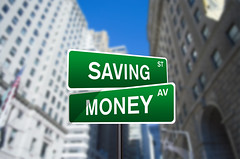 Saving Money Street Sign On Wall Street (investmentzen) Tags: finance finances financial invest investment investing money wallstreet wall street sign banking saving