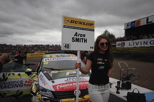 Árón Smith on the grid during the BTCC Knockhill Weekend 2016