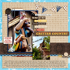 Critter Country Cover (girl231t) Tags: zzmyscrapbookpages 0scrapbooking 2016 scrapbook layout 12x12layout digi disney disneyland projectmouse