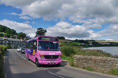 Pink Beaver By The Ley (Better Living Through Chemistry37) Tags: first firstdevoncornwall s529rwp 52529 mercedesbenz vario 0814d plaxton beaver beaver2 a379 torcross kingsbridgebusrally buses busessouthwest busesuk transport vehicles vehicle psv publictransport