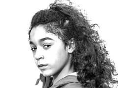 Regard NB (thierry anselmier) Tags: nikon blackandwhite portraiture whitebackground yourbestoftoday enfant children