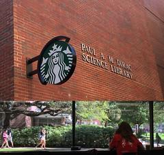 Dirac coffee shop (readerwalker) Tags: students collages libraries floridastateuniversity starbucks tallahassee productplacement coffeeshops branding readerwalker iphonephotos
