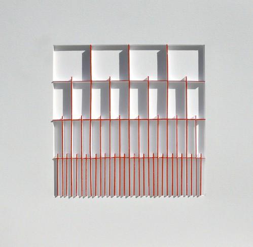 Herman Coppus Papierreliëf 50x50 cm