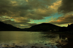 AFTER THE STORM, COMES THE CALM .... (fleetingglances) Tags: sunset sky clouds dark scotland wind ominous jesus calm gale master lightning thunder downpour higlands arrochar lochlong bequiet