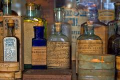 Drug Store (cheryl.rose83) Tags: bottles connecticut drugstore mystic mysticseaport oldbottles