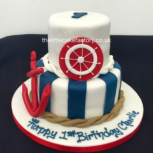 Nautical 1st Birthday Cake nautica nautical ocean maritime sea