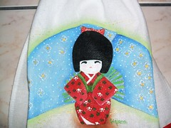 japonesa (LID ARTS) Tags: de em prato panos pintura tecido