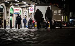 Ratty Is Watching (DobingDesign) Tags: city urban signs london underground streetsign citylife streetphotography ground luggage cobblestones trainstation citylights cityatnight charingcrossstation ratseyeview