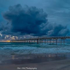 A different perspective of the sand pumping jetty with a storm brewing #wow_australia #surf #gopro #goldcoast #storm #clouds (StuCrawford) Tags: sun storm beach clouds sunrise landscape photography coast waves jetty australia nsw tweedheads gopro fingalheads stuartcrawford instagramapp stu~artimages