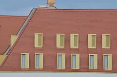 Swissotel, Taschenberg, Dresden, Germany (westport 1946) Tags: windows germany deutschland dresden modernarchitecture swissotel redtiles taschenberg modernearchitektur dresdenhotels