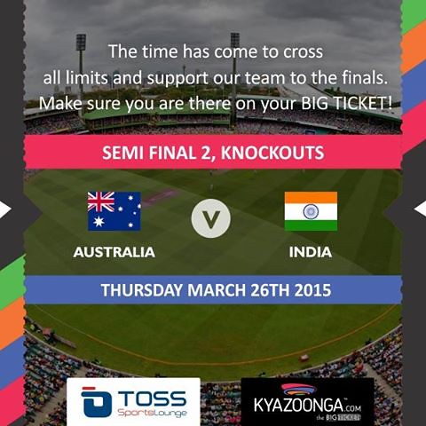 Kyazoonga: India vs Australia World Cup Live Screening at TOSS Sports Lounge, Pune