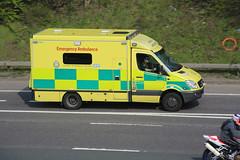 LAS 7901 (kenjonbro) Tags: uk england yellow stone kent ambulance emergency dartford 999 sprinter londonambulanceservice 7901 worldcars dartfordrivercrossing kenjonbro canoneos5dmkiii canonzoomlensef9030014556