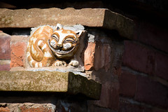 The Cheshire Cat (lapoonz) Tags: red brick stone wall cat cheshire alice lewis chester carroll wonderland