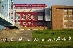 ガンバレ高校球児! (m-louis) Tags: bridge school building japan baseball sony 大阪 osaka yodogawa 20000views 淀川 10000views 100faves 200faves rx100 野球部 桜宮高校